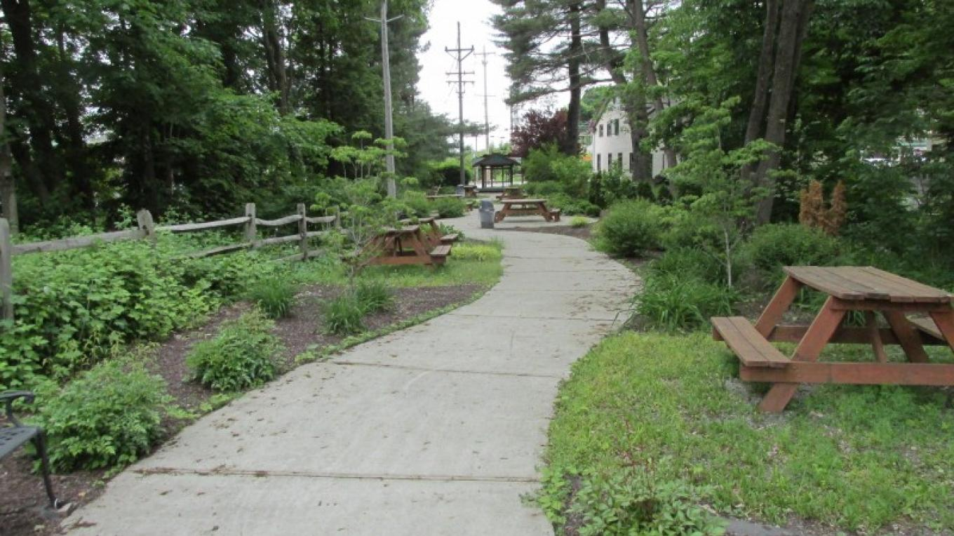 The D&H canal route through a village park in Wurtsboro. – Kerron Barnes