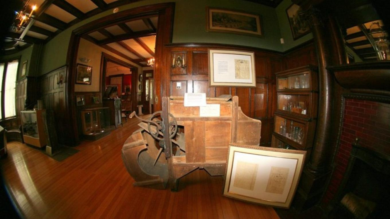 Inside the museum-through a fish eye. (Perhaps a Delaware River Shad?) – Tamara Singer