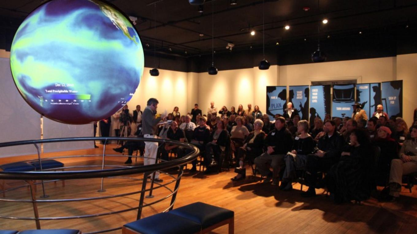 Nurture Nature Center's acclaimed exhibit, Science on a Sphere. – The Nature Center