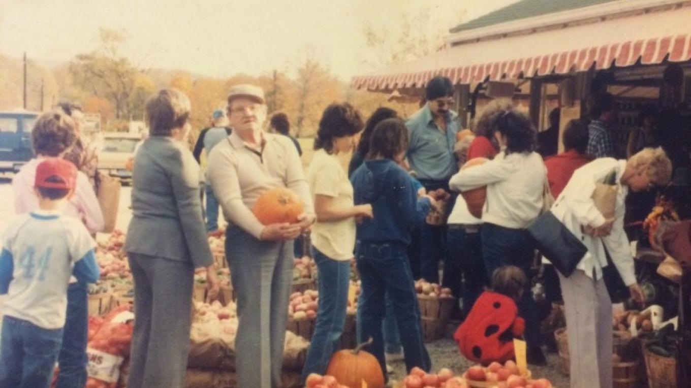 A busy Autumn afternoon in the 1970's.... – Photograph by: Marshall's' Farm Market and Country Store
