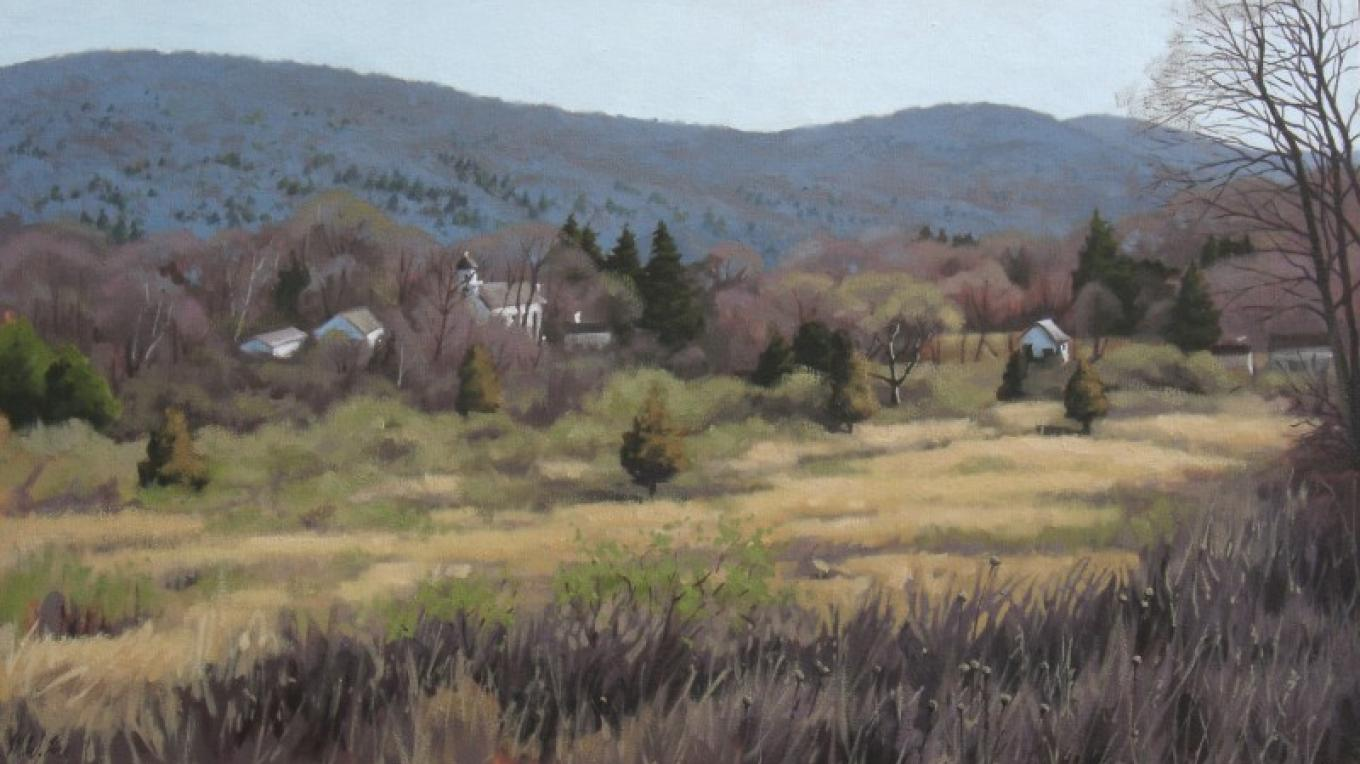 """Walpack Valley in Spring"" oil painting"