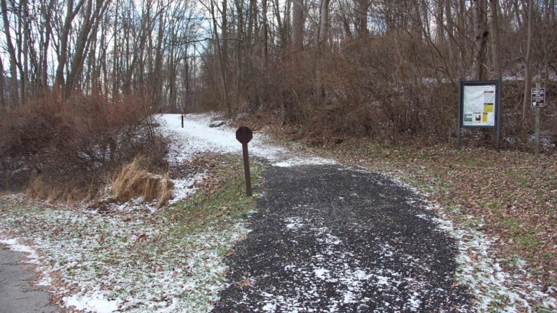 The McDade Trail as it runs south of Smithfield Beach. – National Park Service
