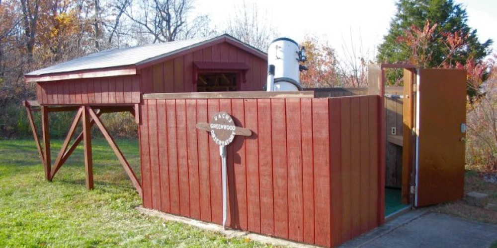 Greenwood Observatory open and ready for public night. – Matt Heiss
