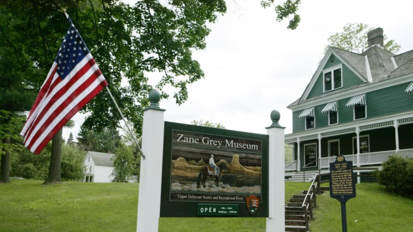 Supporting the preservation of historically significant sites. Pictured: The Zane Grey Museum-Upper Delaware Scenic and Recreational River – Rare Brick Photography