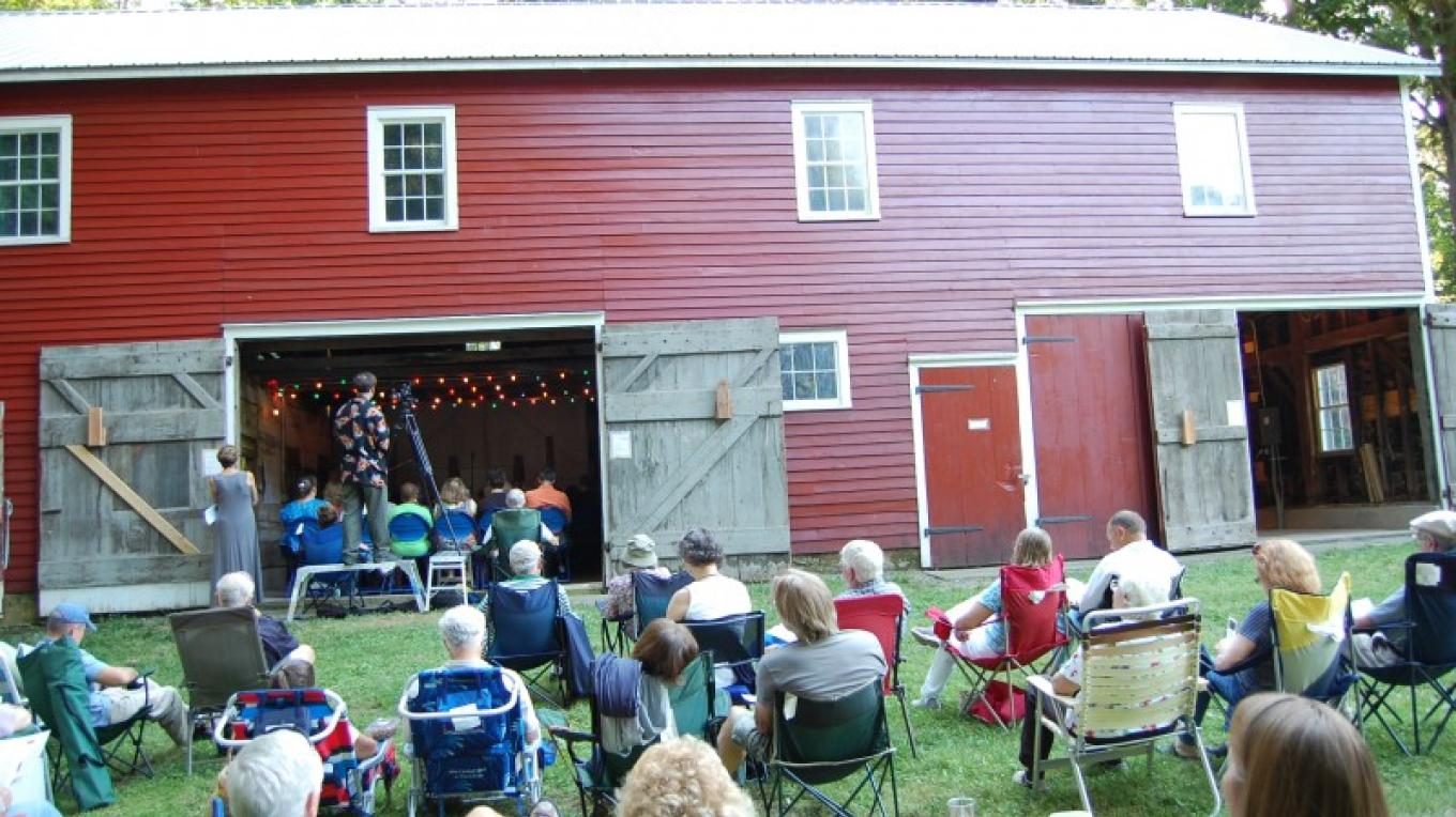 Ramsaysburg Homestead Site - Summer Concert Series in the Barn. The Bohemian Quartet plays as part of a summer long series of free concerts. – Ken Metcalf