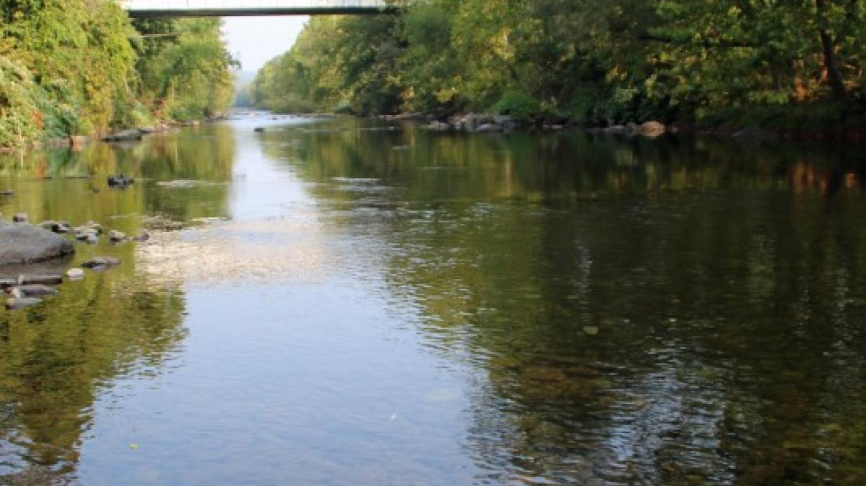 The mighty Brodhead Creek flows past Pinebrook Park. – Nancy J. Hopping