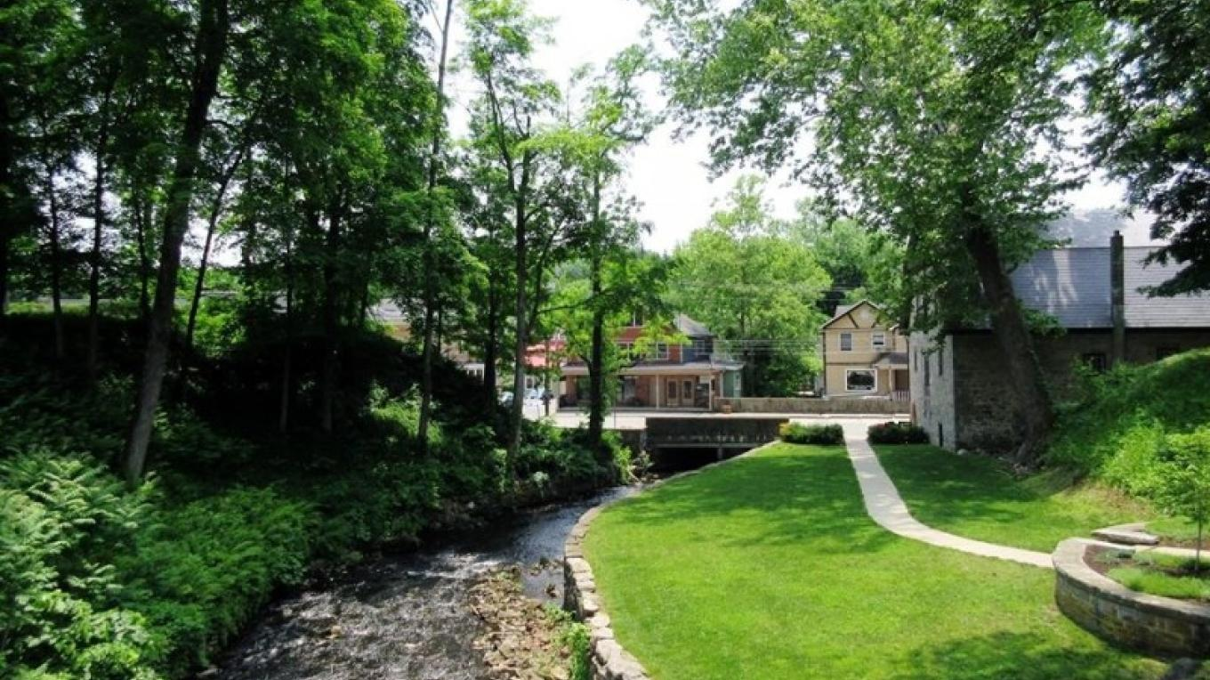 The view from the walking bridge at Blair Falls – Cynthia Montes