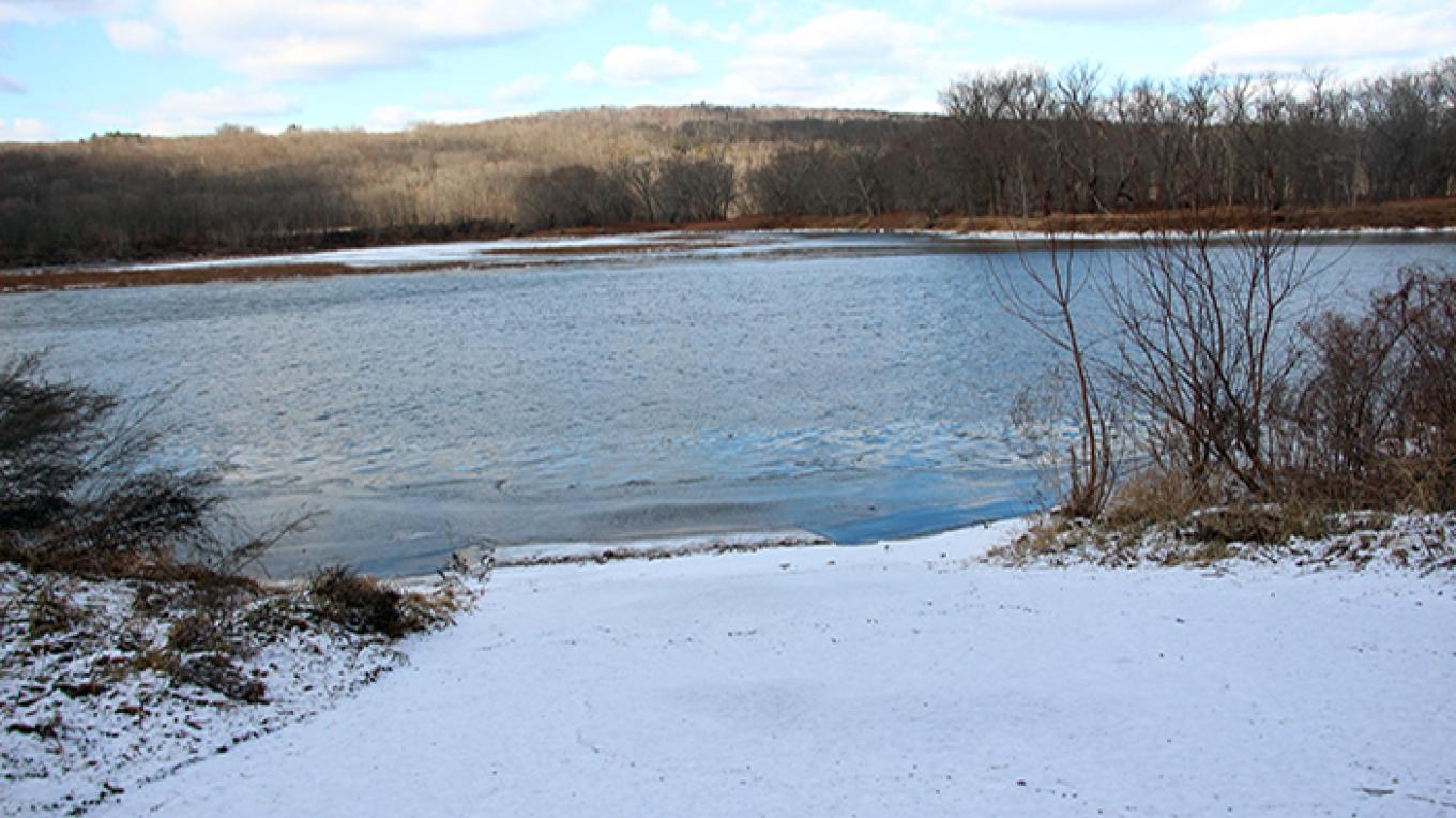View of the Delaware River from Poxono Access – National Park Service