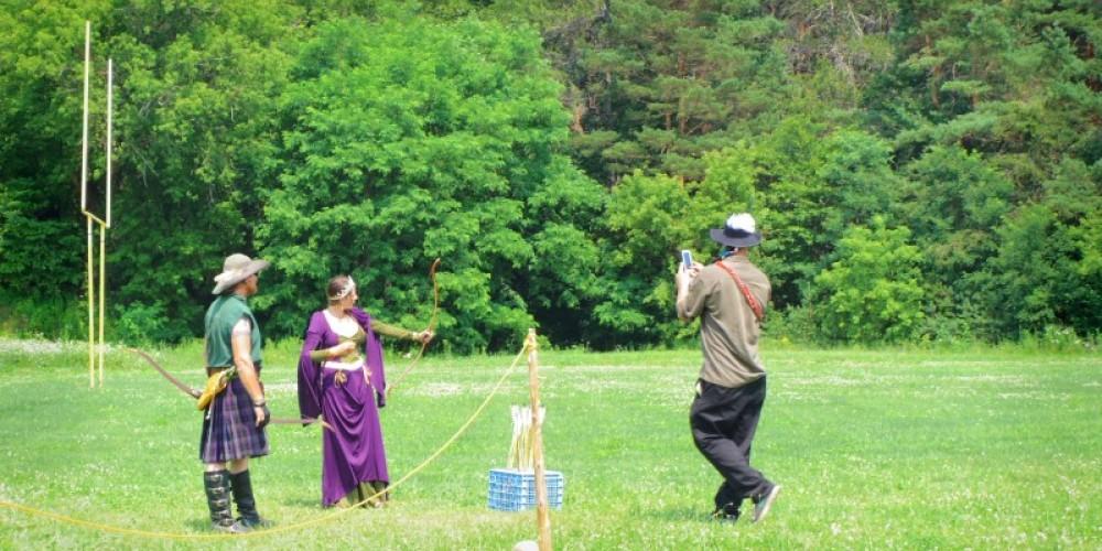 Shooters on the range at Krebashia Kingdom Renaissance Fair in Malone, N.Y. – Nuné Nazari