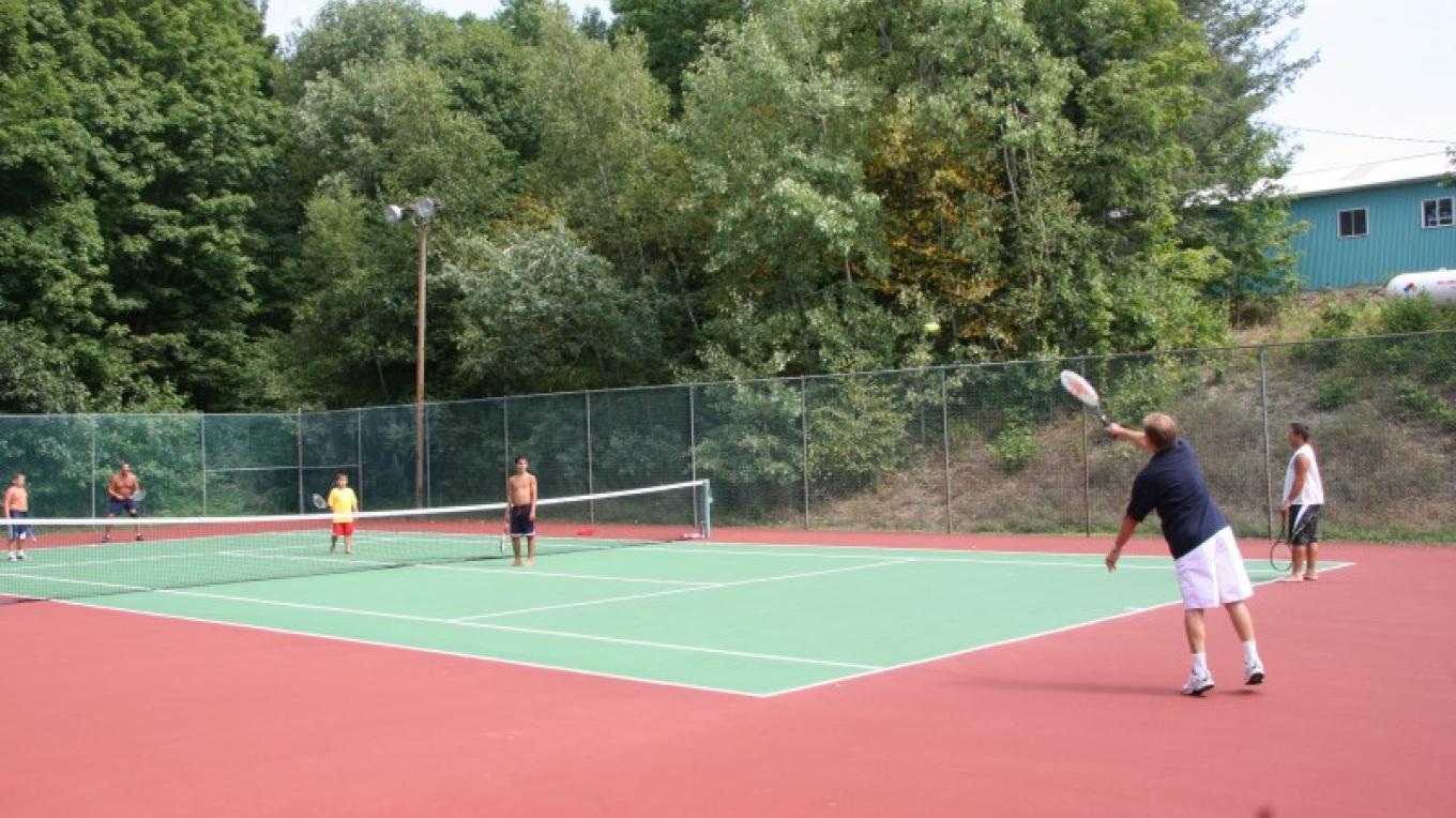 Tennis Courts – Photograph by: Kymer's Camping Resort