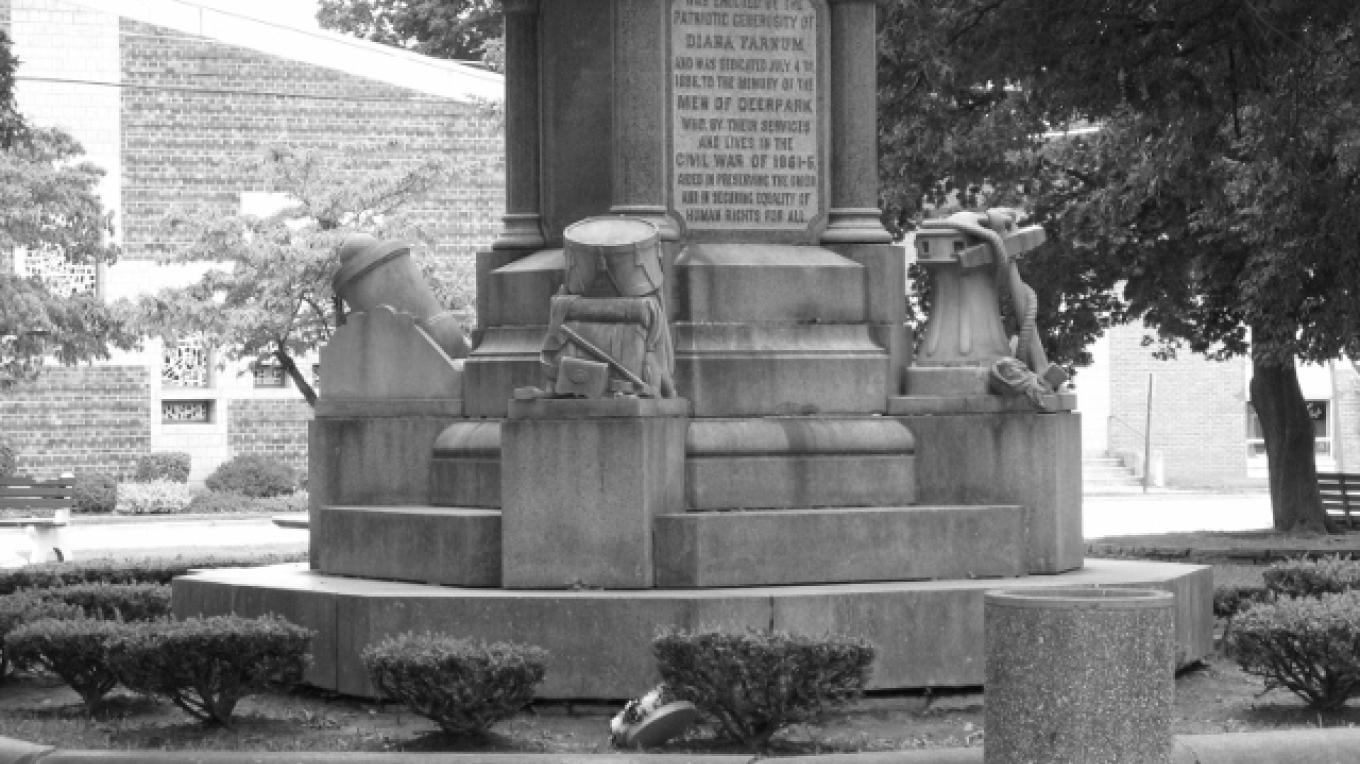 Base of the Civil War Monument in Orange Square – Minisink Valley Historical Society