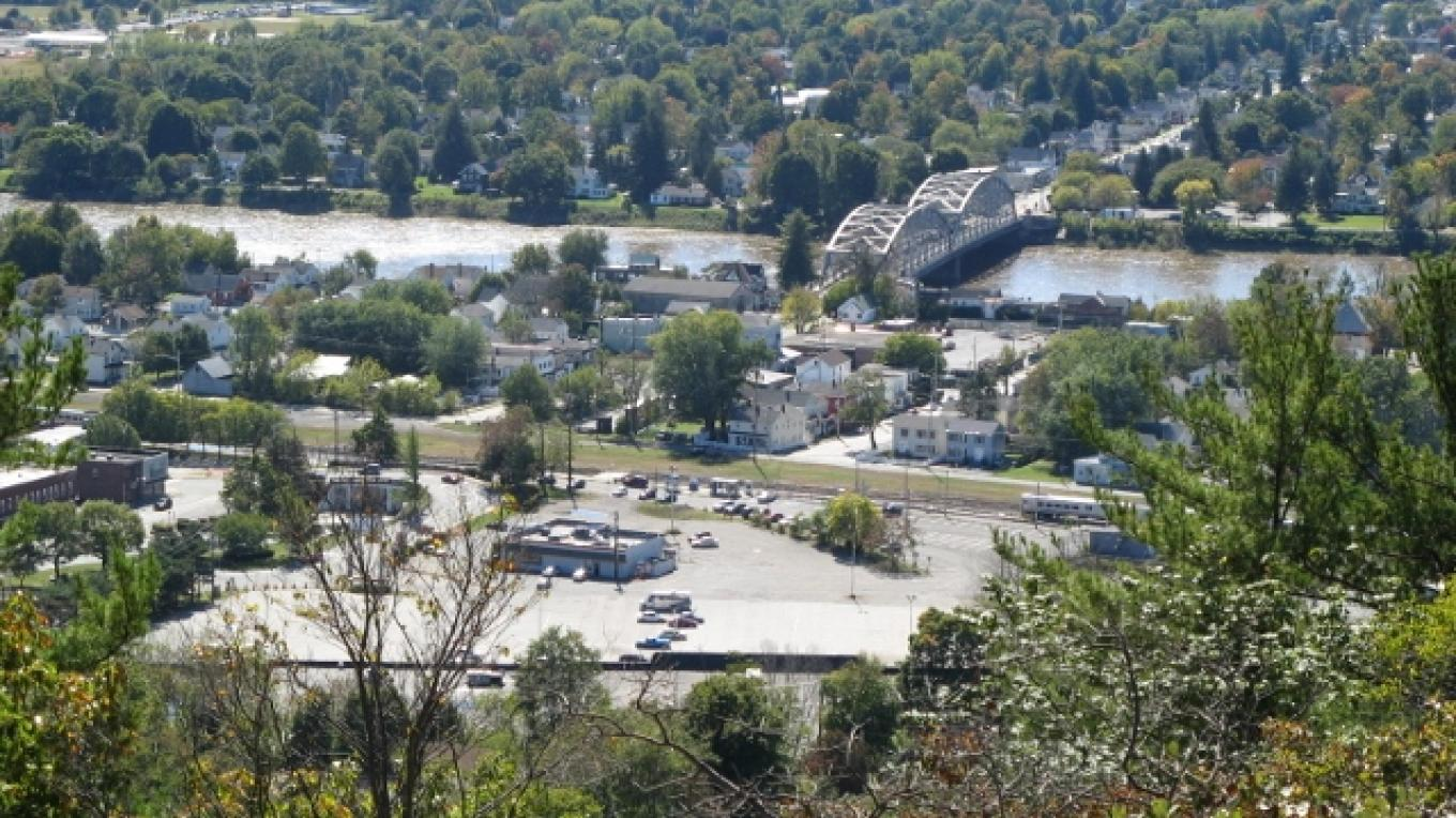 View from Point Peter of the Delaware River. – Minisink Valley Historical Society