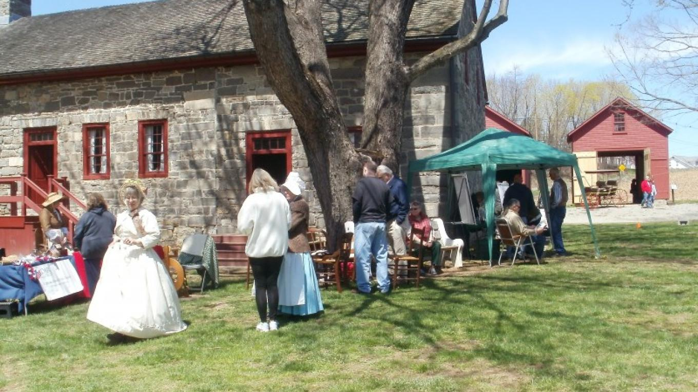 Open House in progress at the Stone Farmhouse – Harmony Township Historical Society