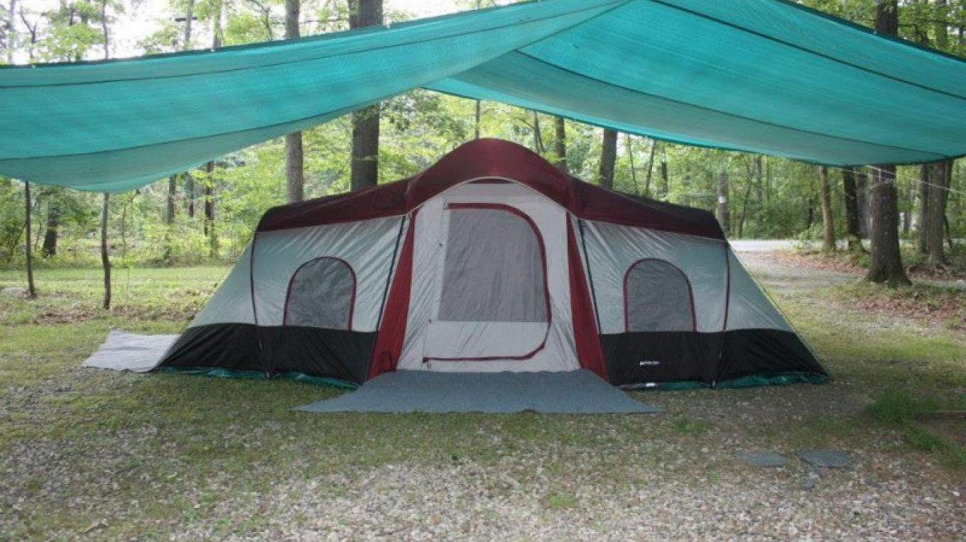 Glamping tents available for rent. – Camp Taylor Campground