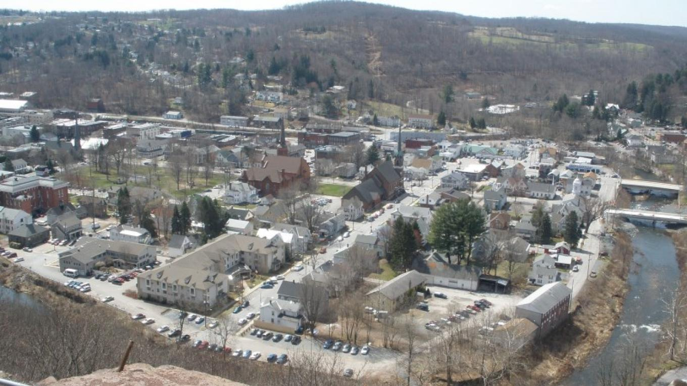 Some of Downtown Honesdale, as seen from the cliff. – Derek F. Williams