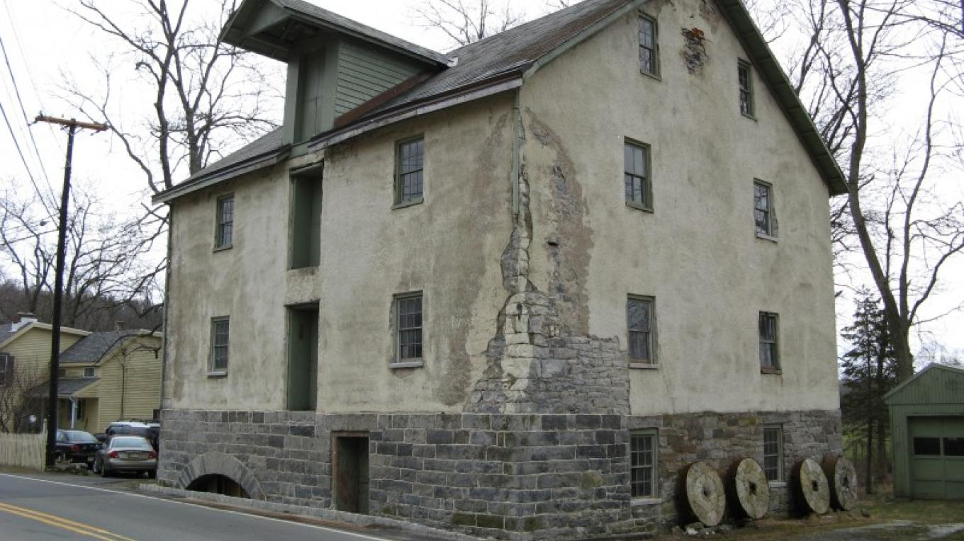 Shafer Grist Mill, built 1844. It was listed on the National Register of Historic Places in 2009. – Rob Jacoby