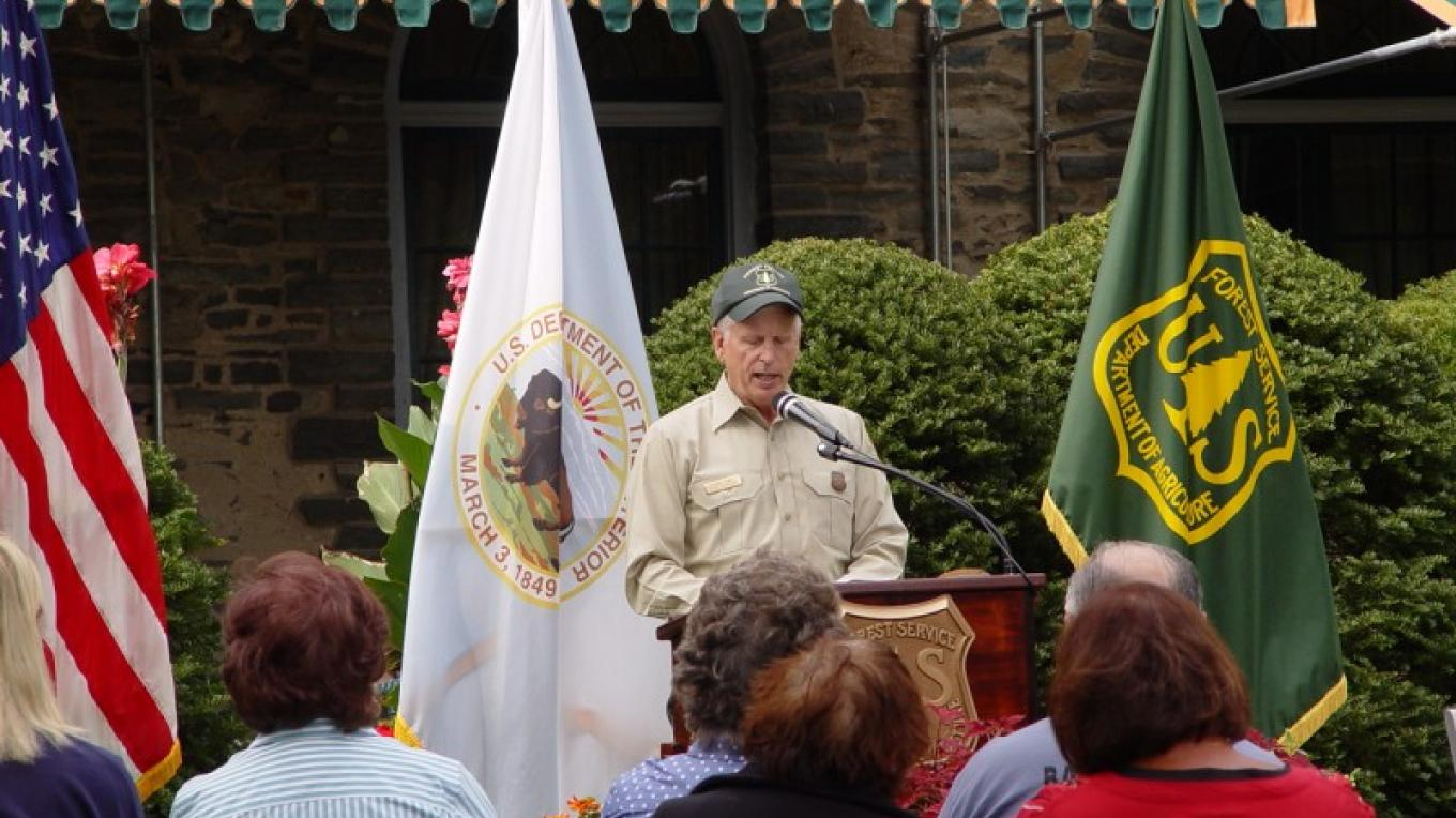 Grey Towers hosts local, regional and national events, such as when US Forest Service Chief Tom Tidwell announced the Every Kid in a Park initiative in 2015. – USDA Forest Service
