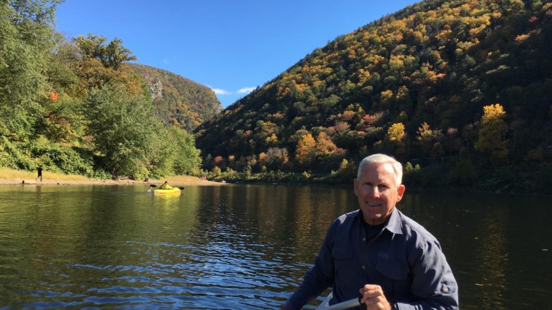 John himself just in front of the Delaware Water Gap. – John Jacobi