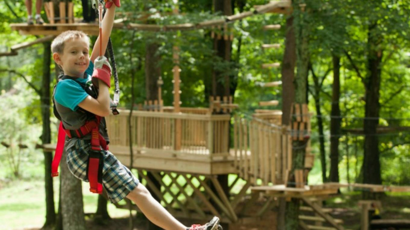 Zip, climb and balance between the trees on the 66 element five course Pocono TreeVentures aerial ropes adventure experience. Open year-round, two hour sessions allow you to explore at your own pace. – David Coulter