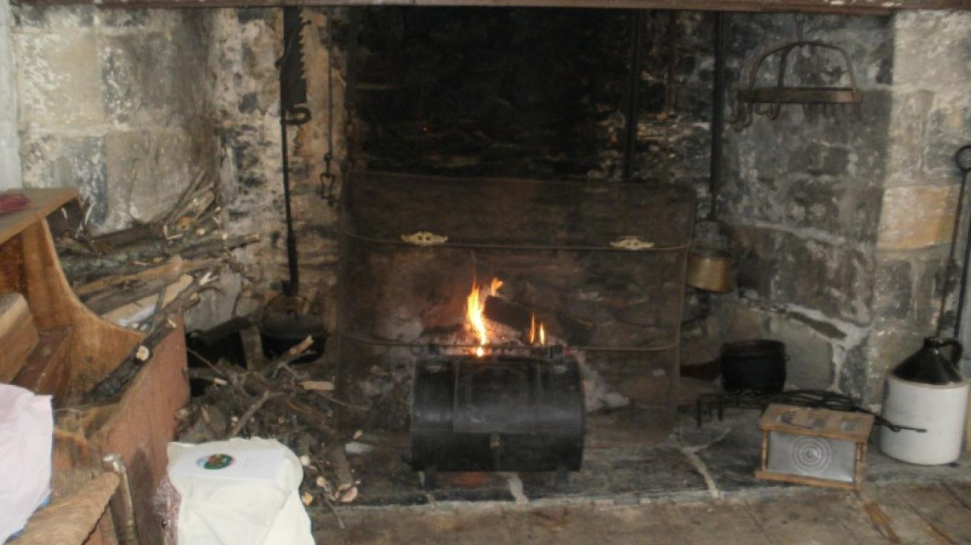 Fireplace in the Farmhouse kitchen – Harmony Township Historical Society