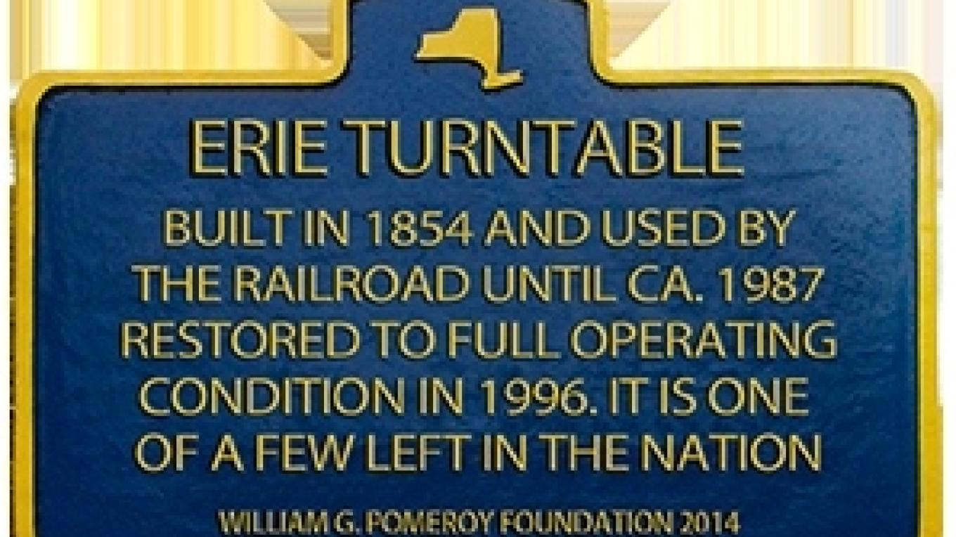 Historic marker at site – Tri-States Railway Preservation Society