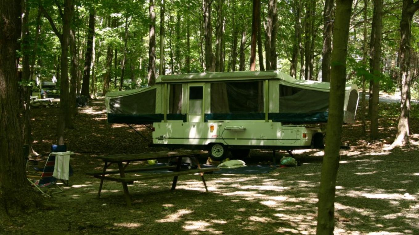 Campsites in a wooded area – Photograph by: Kymer's Camping Resort