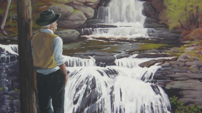 """""""Pinchot - Gone Fishing"""" oil painting – Marie Liu"""