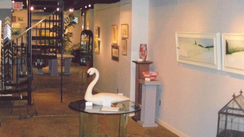 Interior of art gallery – Denise Sandy