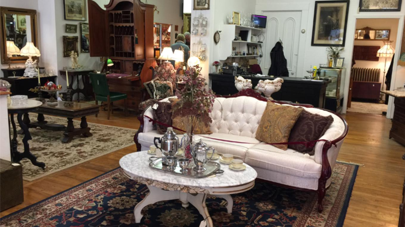 View inside of Ambiance, a high end antique store. Many treasures are to be found here. – Patricia Butler