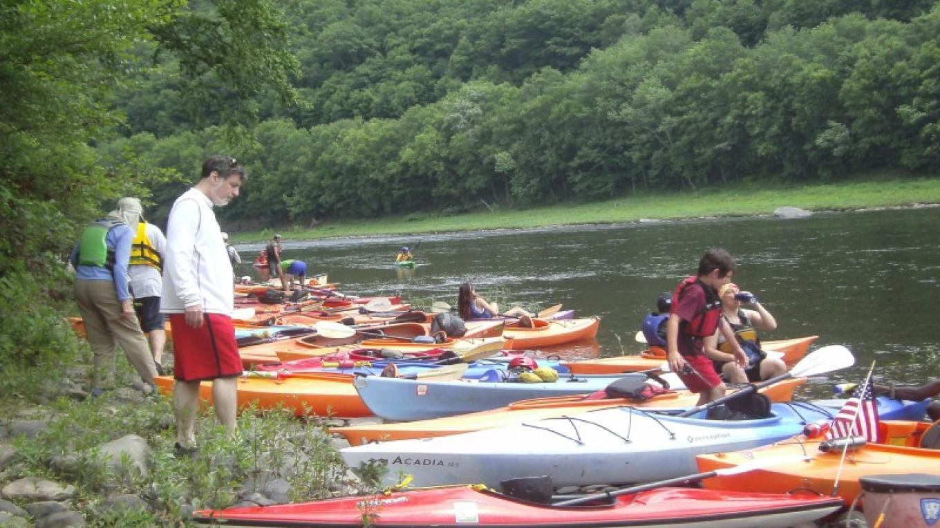 The Delaware River Sojourn offers a week-long, guided paddling excursion starting in the Upper section. – Laurie Ramie