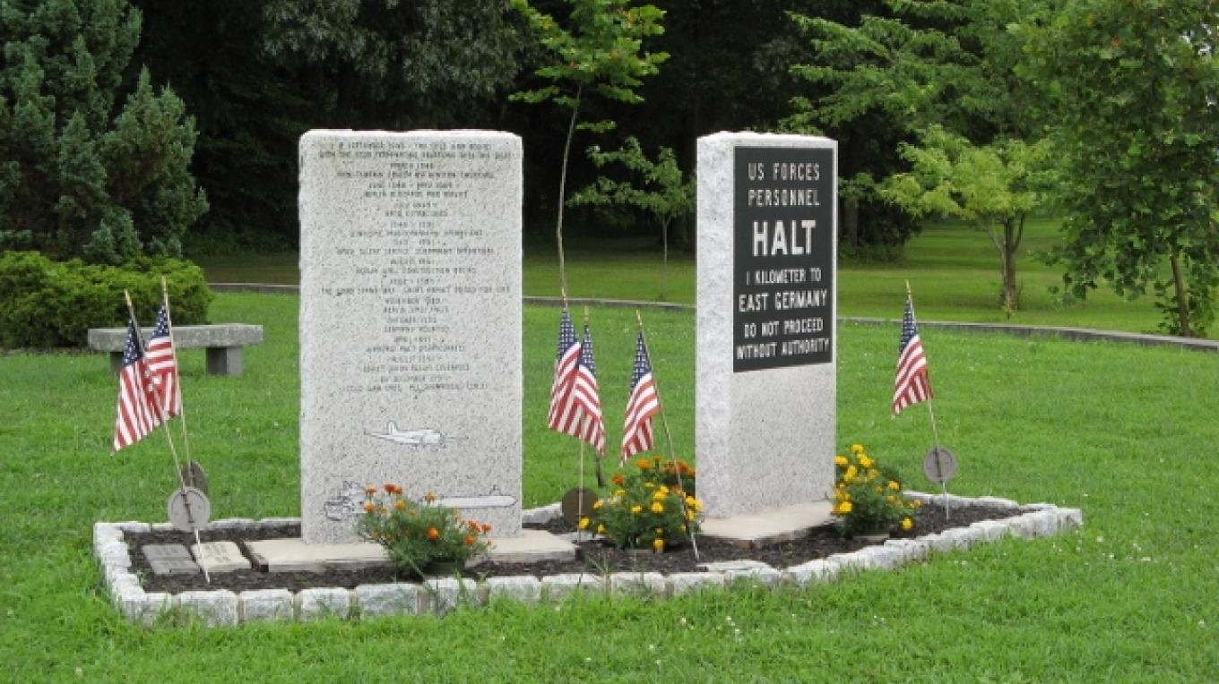 Reverse of the Cold War Monument. – Photograph by: Veterans Memorial Park and Education Center