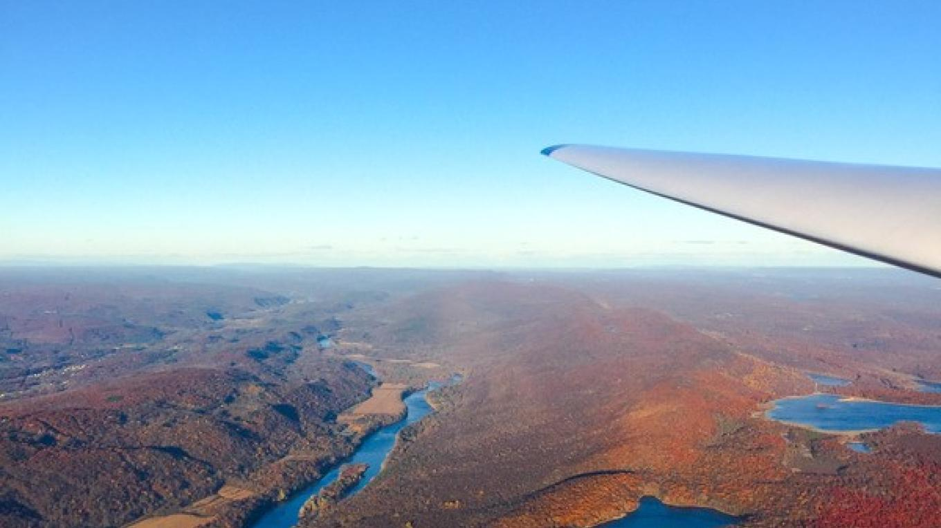 Delaware River as seen from a sailplane during a glider ride – Jersey Ridge Soaring