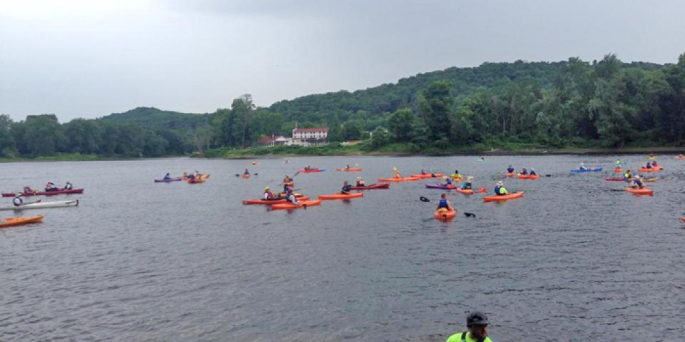 Sojourners launch from the Worthington State Forest access in the Delaware Water Gap National Recreation Area. – Dejay Branch, National Canoe Safety Patrol