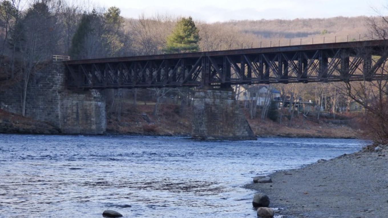 Delaware River and #2 bridge – Photograph by: Lynn M. Burns