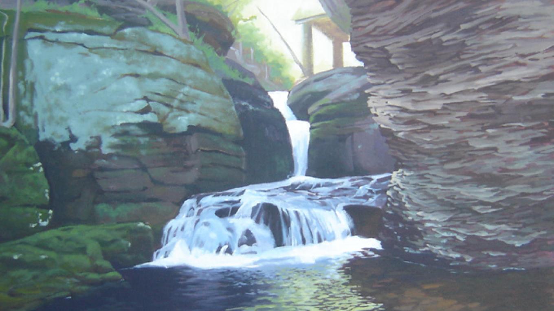 """""""Song Brook"""" Adams Creek, oil painting – Marie Liu"""
