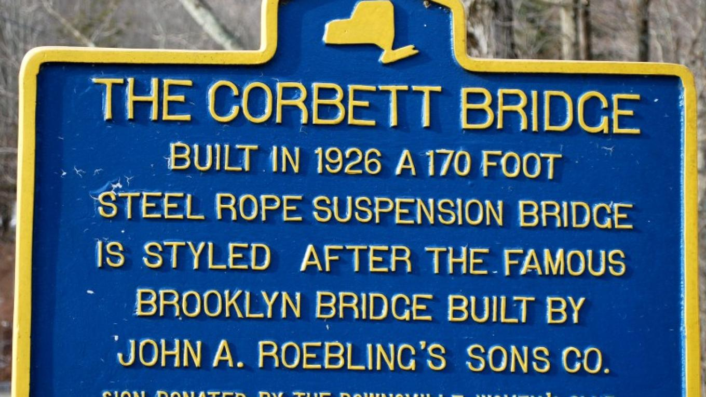 Corbett Bridge Historical Marker on the Corbett Side of the bridge – Kay Parisi-Hampel