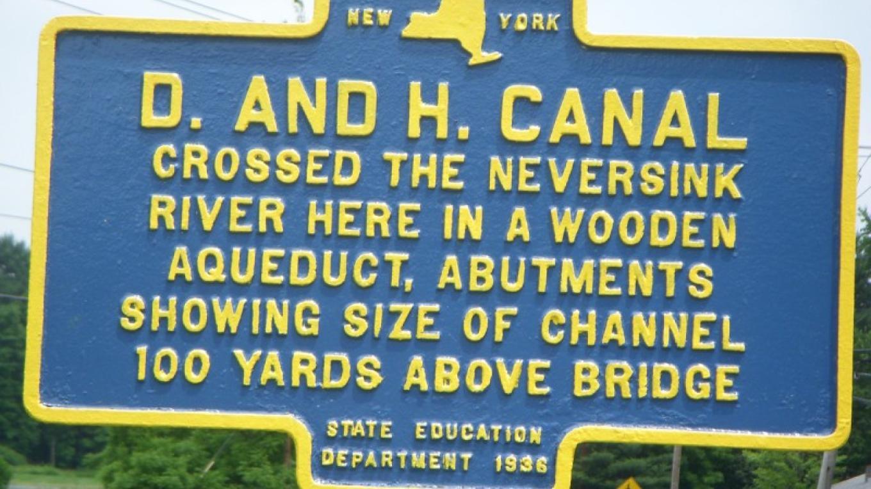 Roebling Aqueduct crosses Neversink at Cuddebackville – Norma Schadt