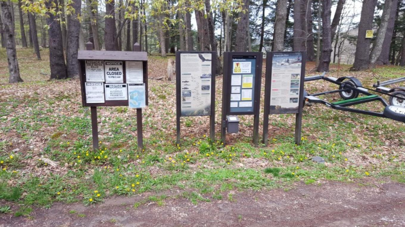 Informational boards, and porta john (no pictured) at most PA access sites as well. – Bill Gross