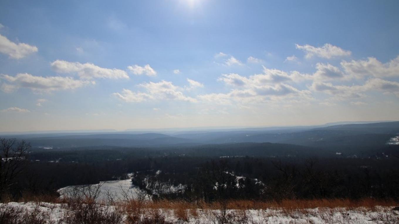 The view from atop Mount Wismer.  The Delaware Water Gap can be seen in the background. – Nancy J. Hopping