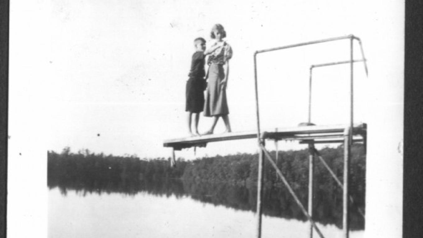 Lacawac used to have a diving board the lake. – Watres Family, Chad Reed Watres