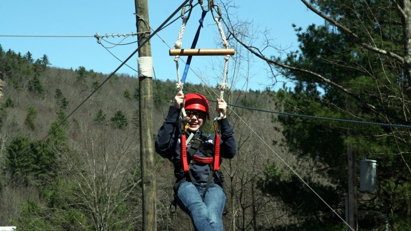 Dual Racing Zipline, Paintball and River Adventures are right next door when you camp and play at Kittatinny Campground! – Kittainny Canoes, Inc