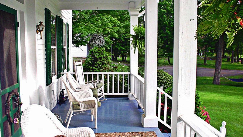 1870 Roebling Inn on the Delaware front porch – JoAnn Jahn