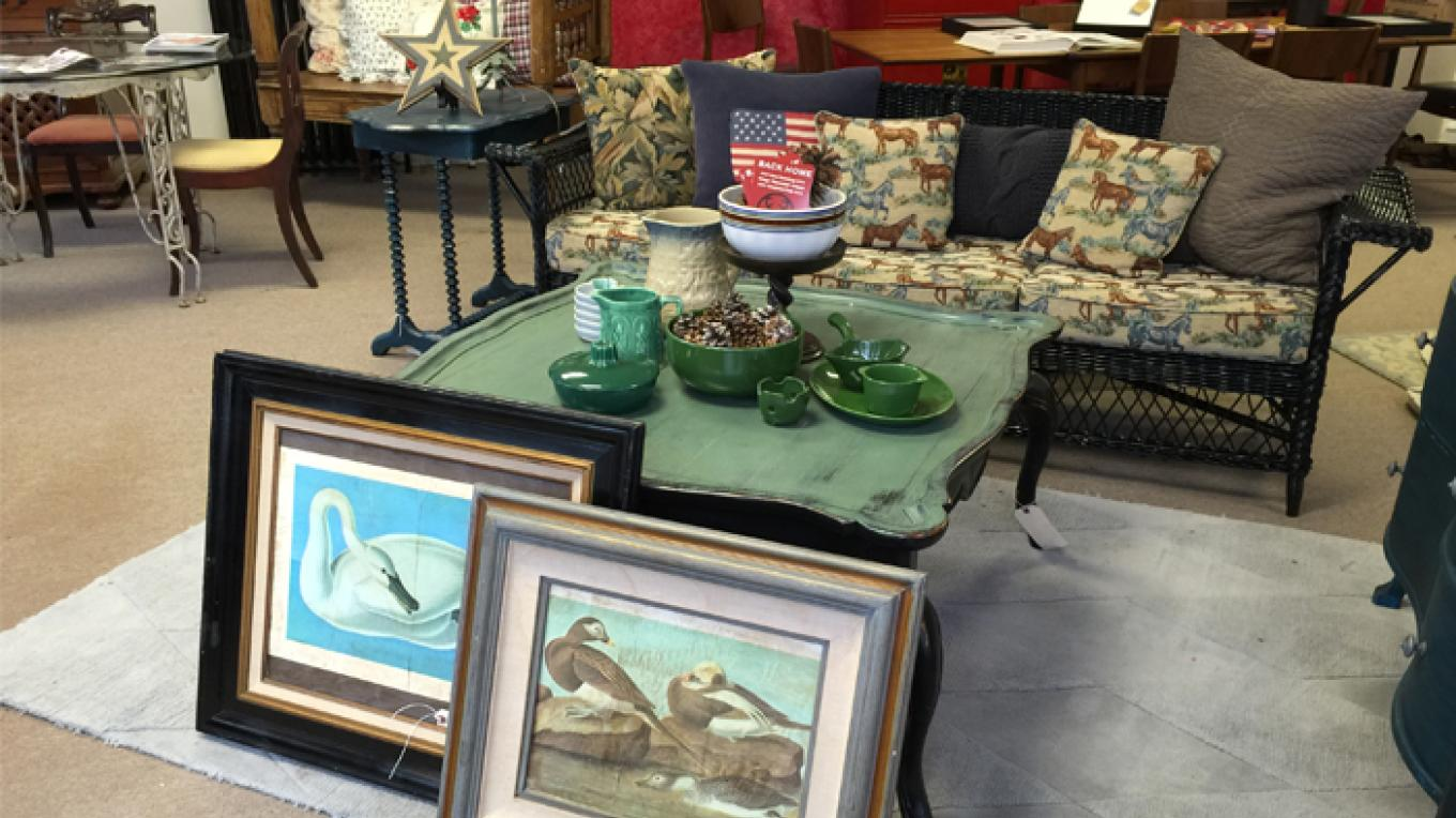 View inside of Back Home, showcasing some of the wonderful treasures to be found in the store. – Patricia Butler