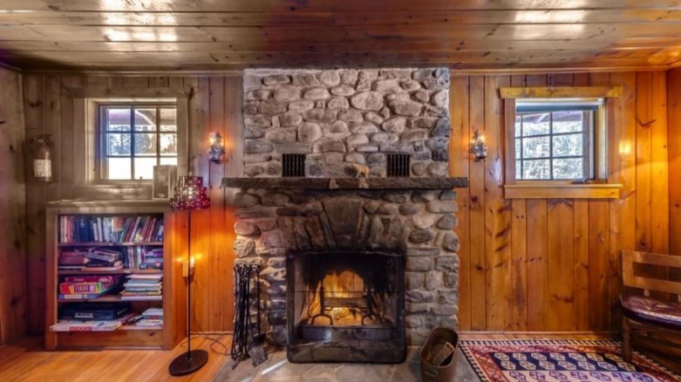 Front view of fireplace—Cabin – Oleg March