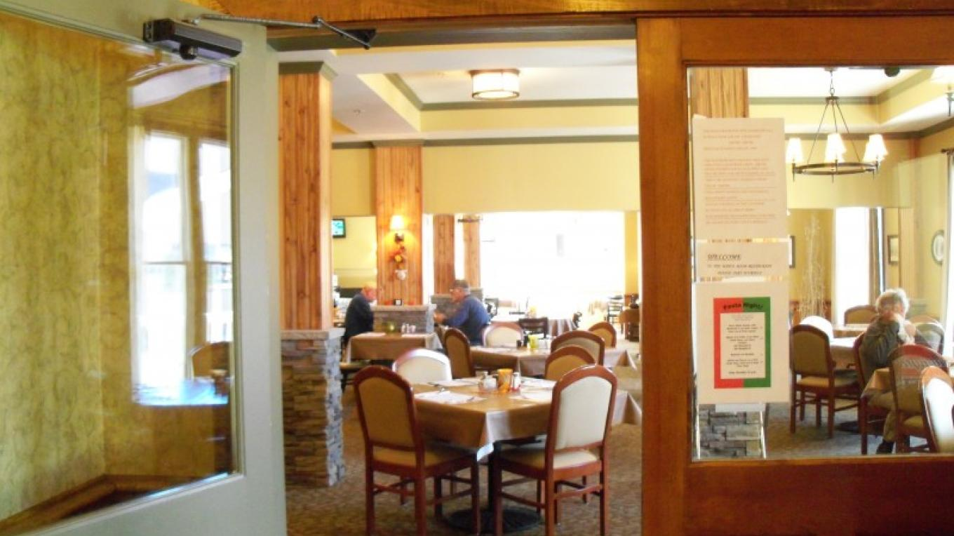 The Maple Room Restaurant serves breakfast, lunch and dinner daily and is available for private parties as well. Check the Hancock House Hotel's Facebook page for current hours or call the front desk. – Hancock House Hotel