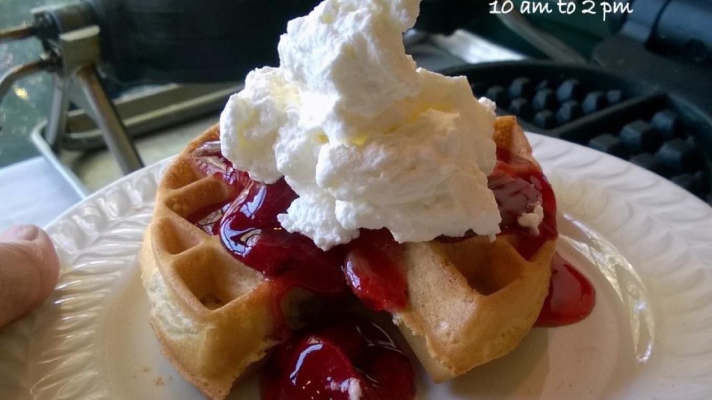 Sunday Brunch Fresh-Made Belgian Waffle – Bruce Brandli