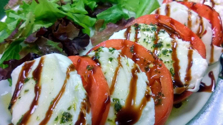 Appetizer Fresh Mozzarella, Tomato, Basil Olive Oil & Balsamic Glaze – Bruce Brandli