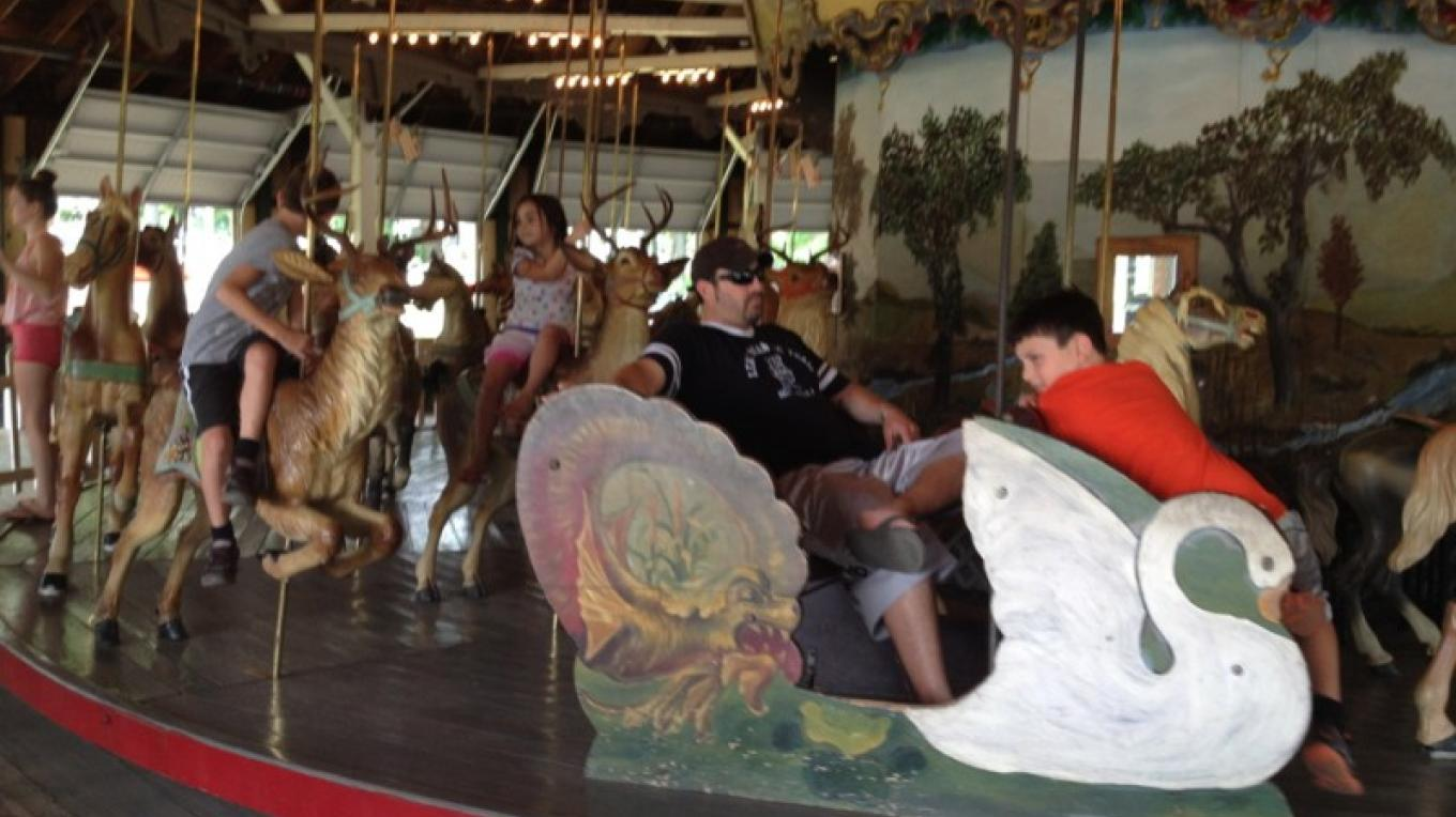 The menagerie of the vintage Carousel, Weona Park, Pen Argyl – Property of the Slate Belt Community Partnership