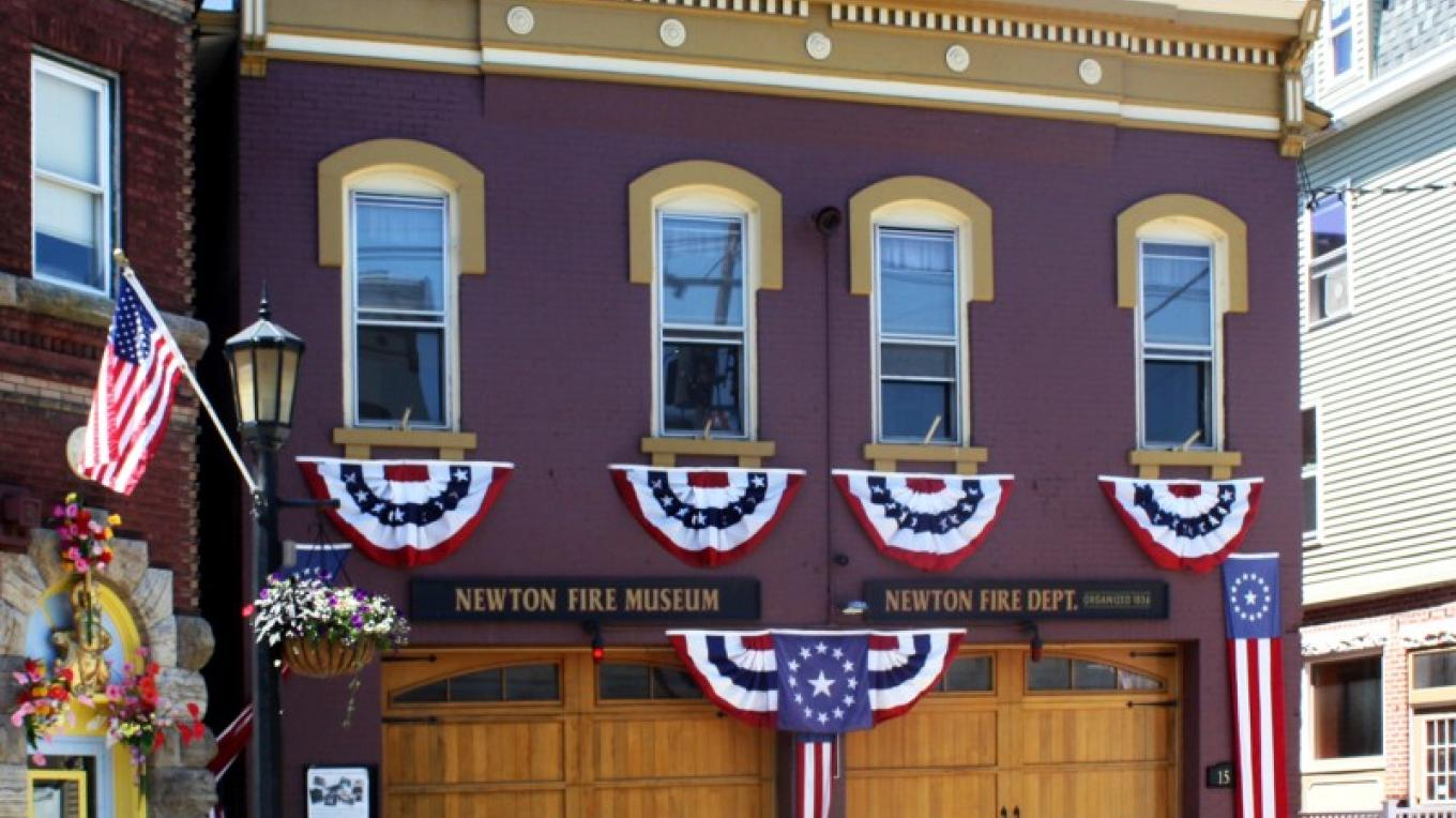 Fire Museum at 150 Spring Street. Dressed up for the 4th of July – Downtown Newton Association