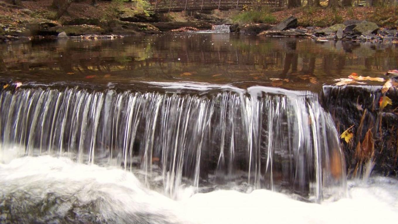 Cascading falls along Dingmans Creek – National Park Service